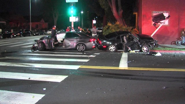 Wrecked vehicles after the accident in south central Los Angeles. Courtesy of OnScene.TV