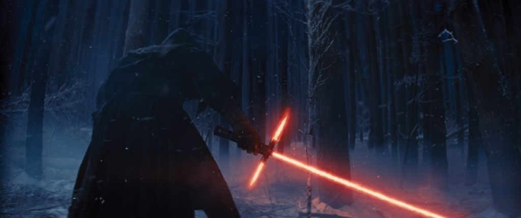 Still of Adam Driver in 'Star Wars: The Force Awakens.' Photo courtesy of Lucasfilm