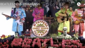 The Beatles streaming announcement. Image via YouTube.com