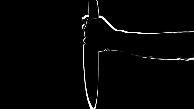 knife in silhouette