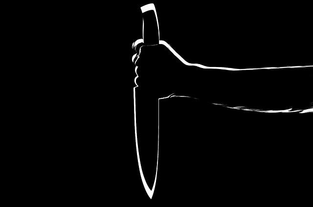 knife in silhouette