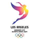 A logo for the upcoming Olympic Games in Los Angeles which will take place in 2028. Courtesy of Los Angeles 2024