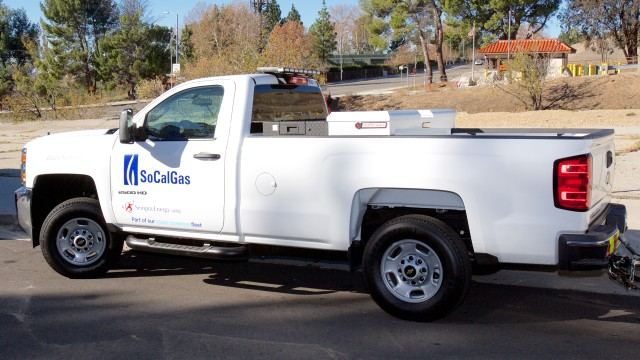 A Southern California Gas Company truck. Photographer: Lance DeLaura © 2015 Southern California Gas Company. Trademarks are property of their respective owners. All rights reserved.