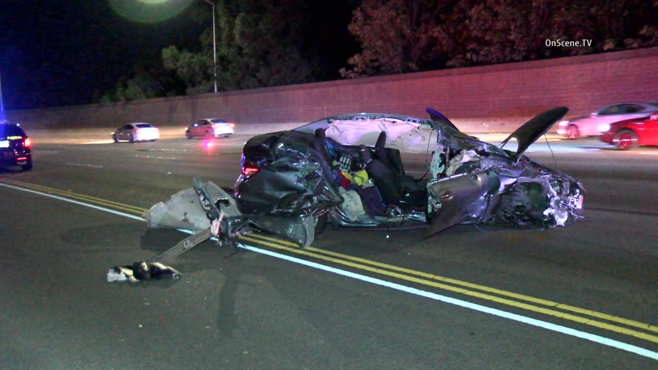 Woman Killed When Big Rig Car Collide On 5 Freeway In