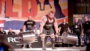 "Eddie ""The Beast"" Hall during 1,025-pound deadlift. Photo via Twitter"