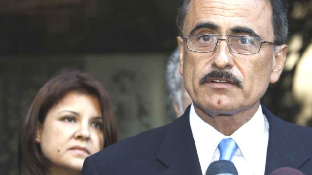 Councilman Richard Alarcon and his wife, Flora Montes De Oca Alarcon, in 2010. Photo via scpr.org