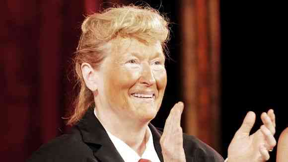 Meryl Streep as Donald Trump. Photo via Twitter