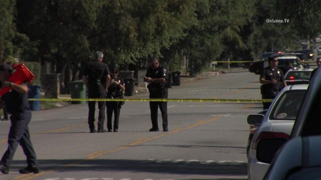 Two people were fatally shot in Tarzana after a drug deal went bad in Woodland Hills, police said. Photo via OnScene.TV.