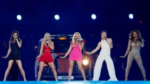 The Spice Girls perform during the closing ceremony of the London 2012 Olympic Games at the Olympic Stadium, August 12, 2012. Photo by Stefan Wermuth via Reuters