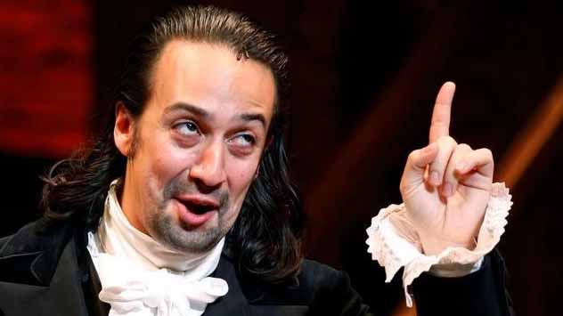 Actor Lin-Manuel Miranda greets spectators after taking part in his last performance with Hamilton in New York July 9, 2016. Photo by Eduardo Munoz via Reuters
