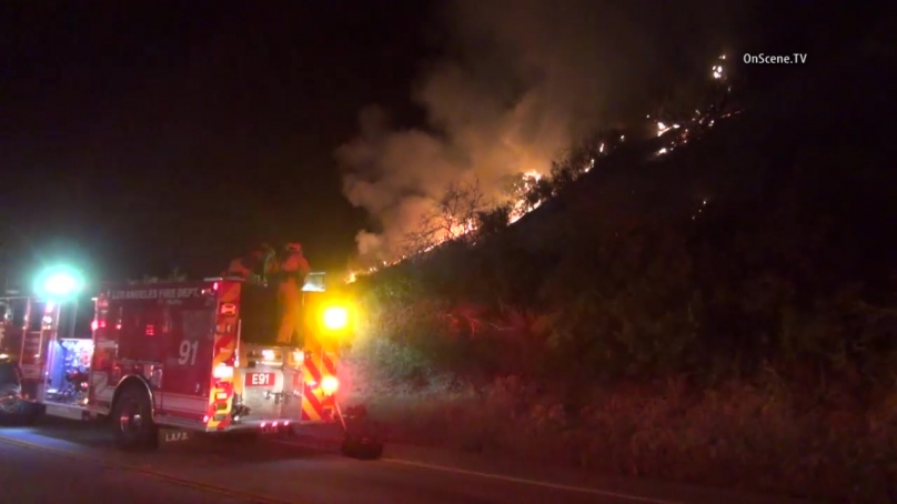Brush Fire Chars 1 Acre In Kagel Canyon Area Of Angeles National