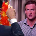 "Stephen Colbert ""interviews"" Ryan Lochte on ""The Late Show."" Photo via Facebook"