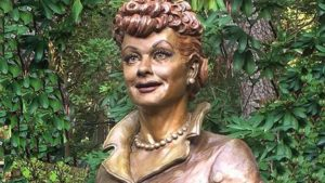 New statue of Lucille Ball in western New York state. Photo via Twitter