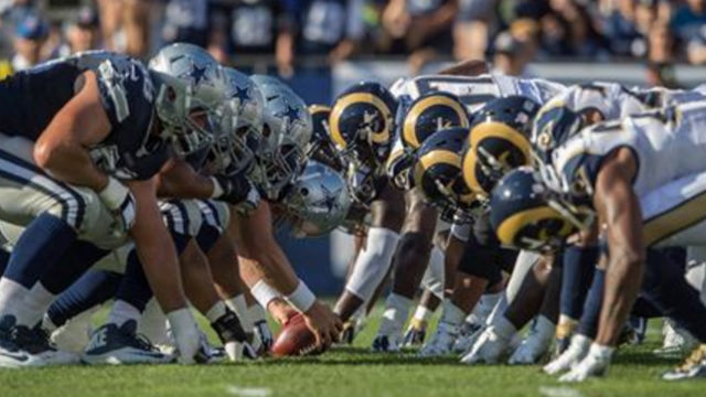 The Los Angeles Rams faced the Dallas Cowboys in their first game in Los Angeles since 1994. Photo courtesy Rams Facebook