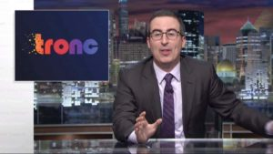 "John Oliver mocks tronc on ""Last Week Tonight."" Photo via YouTube.com"