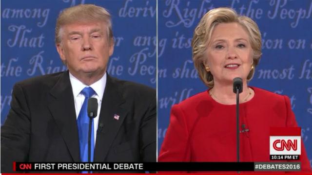 CNN coverage of the presidential debate.
