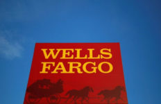 The sign outside of a Wells Fargo branch. Photo by Jim Young via Reuters