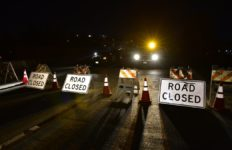 caltrans road closed