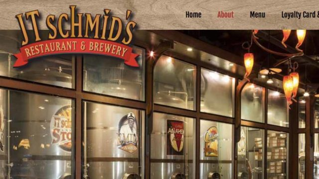 Homepage image for JT Schmid's Restaurant & Brewery.