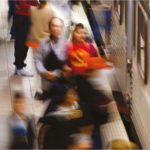 A crowd at a Metro station. Photo from Metro Quality of Life Report