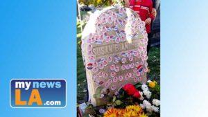 """I voted"" stickers on Susan B. Anthony gravestone in Rochester, New York. Photo via Instagram"