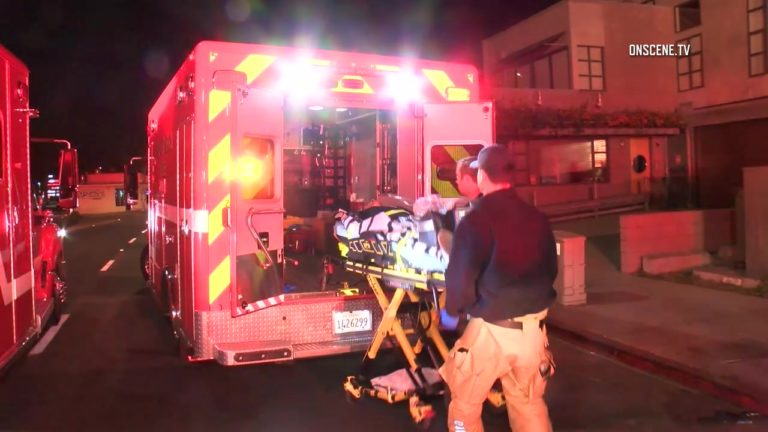 Four people who overdosed on an unknown substance were found unconscious early Friday in a Newport Beach night club, authorities said. Photo via OnScene.TV.