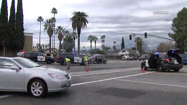 Police on the scene of a Dec. 30 crash that left a skateboarder dead. Photo: OnsceneTV
