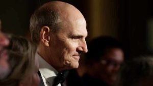 Kennedy Center Honoree musician James Taylor speaks to the media as he arrives for the Kennedy Center Honors in Washington, Dec. 4, 2016. Photo by Joshua Roberts via Reuters
