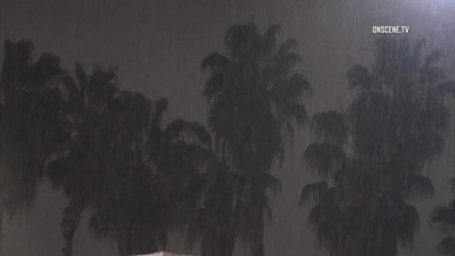 Rain in Southern California. Photo via OnScene.TV.