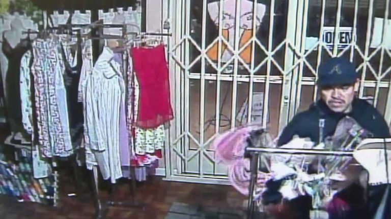 Carlos Olivia as seen in surveillance video. Image via LAPD
