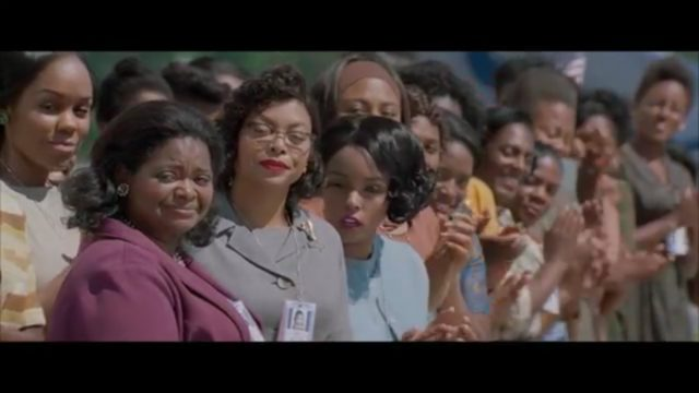 """""""Hidden Figures,"""" image from official 20th Century Fox trailer."""