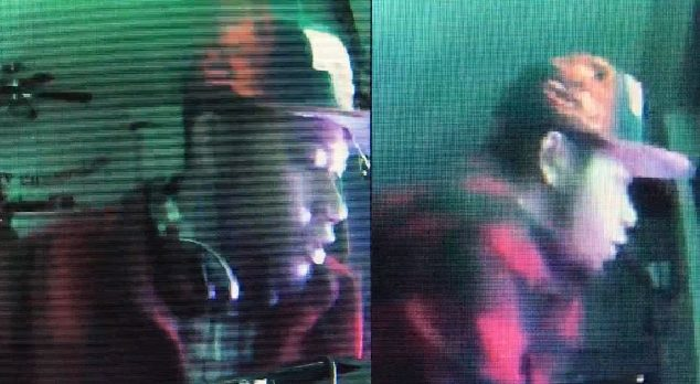 Video surveillance of the suspect. Photo courtesy Los Angeles County Sheriff's Department, Palmdale Station.