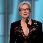 Meryl Streep at Golden Globe Awards.