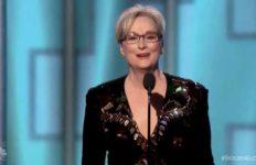 Meryl Streep at Golden Globe Awards.