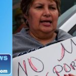 woman protesting deportation of illegal immigrants