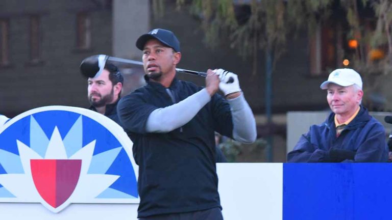 Tiger Woods plays Torrey Pines for first time since 2015. Photo by Chris Stone