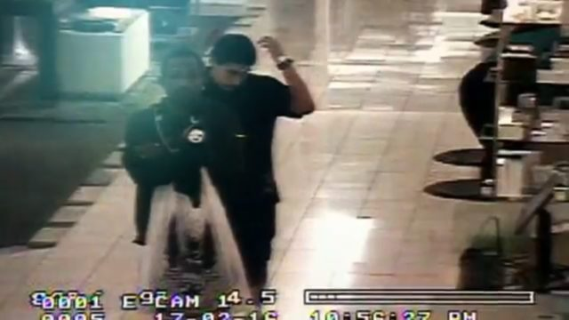 The suspects, caught on surveillance video. Video image: Santa Ana Police Department