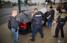 ICE agents make an arrest