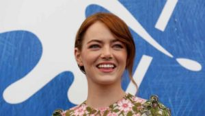 "Actress Emma Stone while attending the photocall for the movie ""La La Land""  at the 73rd Venice Film Festival in Venice, Italy on Aug. 31, 2016. Photo by Alessandro Bianchi via Reuters"