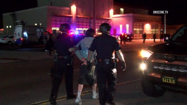 Video surfaced Wednesday of the fight in Anaheim between at least two teenage boys and an off-duty Los Angeles police officer who fired a gun during the scrum. Photo via OnScene.TV,