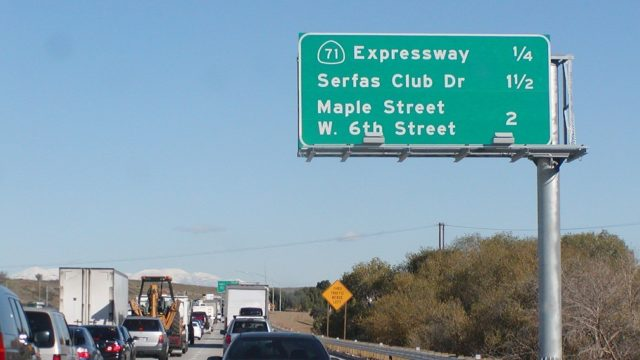 Traffic on the eastbound 91 Freeway toward Corona. File photo: Flickr