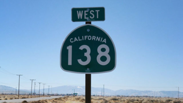 """Highway 138, known as """"Blood Alley,"""" between Palmdale and Victorville, is the so-called back route between L.A. and Las Vegas. File photo"""