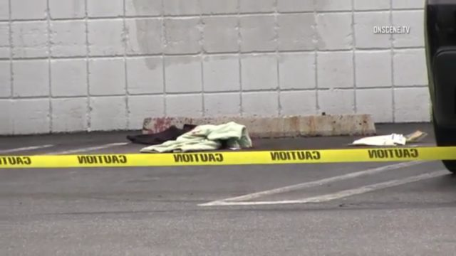 The crime scene in Vermont Square, March 21, 2017. Photo: OnSceneTV