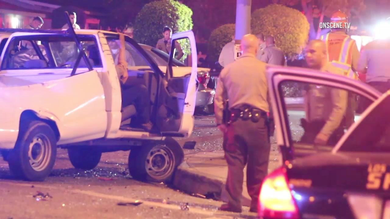 Wild car chase, violent crash, two injuries in Paramount - MyNewsLA.com