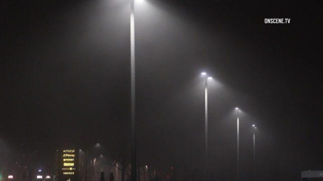 Fog in Lakewood, Photo via OnScene.TV.