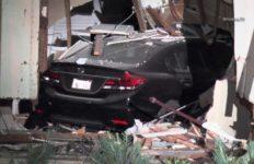 Woman who crashed car during Harbor Gateway prayer meeting killing 2, injuring 10 in court. Photo via OnScene.TV.