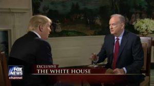 Bill O'Reilly interviews President Trump. Image via YouTube.com