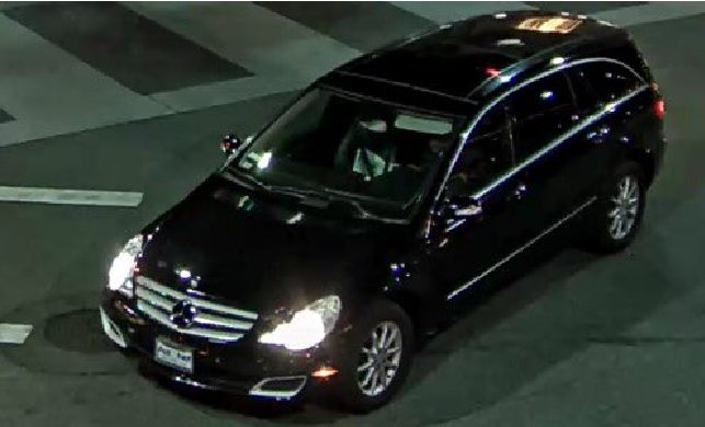 The Suspect Behind The Wheel Of The Mercedes Benz Used To Commit The  Alleged Vandalism
