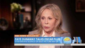 Faye Dunaway talks to NBC's Lester Holt on Oscars flub. Image via YouTube.com