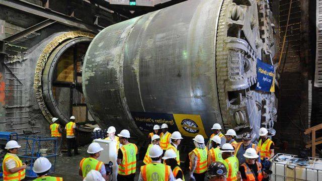 Retirement of Harriet the tunnel machine. Photo via L.A. Metro